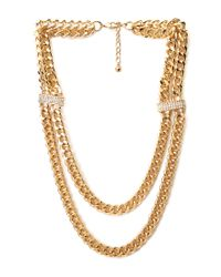 Forever 21 - Metallic Glitzy Layered Chain Necklace - Lyst