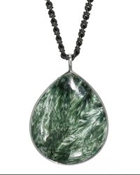 Elizabeth Showers | Green Claire Seraphinite Pendant Necklace | Lyst