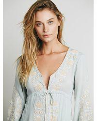 Free People - Blue Womens Dreamweaver Dress - Lyst