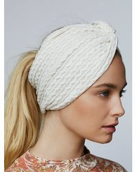 Free People | White Cozy Knotted Wideband | Lyst