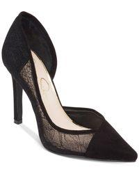 Jessica Simpson - Black Cavilla Lace D'orsay Pumps - Lyst