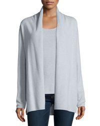 Neiman Marcus | Gray Modern Cashmere Open Cardigan | Lyst