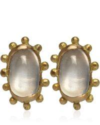 Ruth Tomlinson - Metallic Gold Moonstone Stud Earrings - Lyst