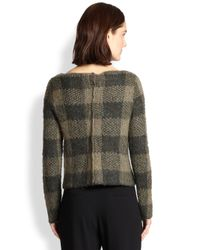 Rag & Bone - Green Cammie Checked Sweater - Lyst