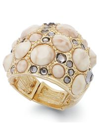 INC International Concepts | Natural Gold-tone Cream Dome Ring | Lyst