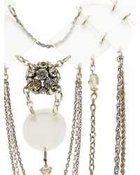 Maria Zureta - Metallic Clear & Silver Chain Necklace - Lyst