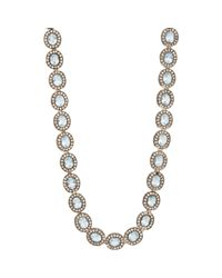 Munnu | Metallic Aquamarine & Diamond Necklace | Lyst