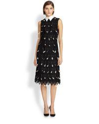 Erdem | Black Diamond Featherlace Dress | Lyst