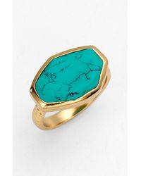 Melinda Maria | Blue 'slice' Stone Ring | Lyst