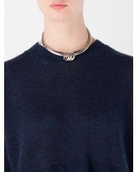 MM6 by Maison Martin Margiela - Metallic Ring Detail Choker Necklace - Lyst