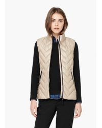 Mango - Natural Quilted Gilet - Lyst