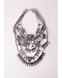 Missguided | Metallic Premium Multi Layered Statement Necklace | Lyst