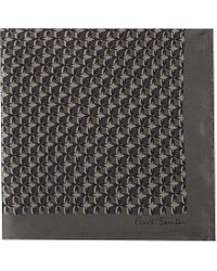 Paul Smith | Gray Printed Silk Pocket Square - For Men for Men | Lyst