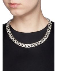 Philippe Audibert - Red 'viwy' Crystal Bead Cutout Necklace - Lyst
