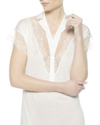 La Perla | Natural Night Dress With Button Front | Lyst