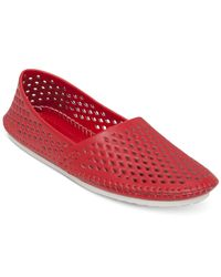 BCBGeneration - Red Xeno2 Perforated Flats (Only At Macy'S) - Lyst