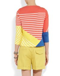 Boy by Band of Outsiders Multicolor Striped Colorblock Cotton Top
