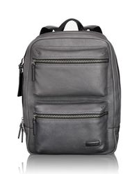 Tumi | Gray 'mission - Bryant' Leather Backpack for Men | Lyst