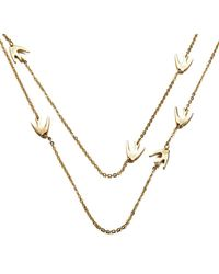 McQ | Metallic Women's Fine Chain Swallow Necklace | Lyst