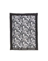 Marc By Marc Jacobs | Black Checked Scarf | Lyst