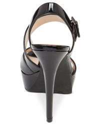 Jessica Simpson | Black Beverlie Strappy Platform Dress Sandals | Lyst