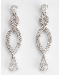 Nadri | Metallic Infinity Drop Earrings | Lyst