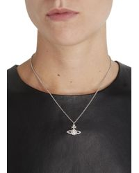 Vivienne Westwood - Metallic Grace Bas Relief Silver Plated Swarovski Necklace - Lyst