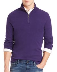 Polo Ralph Lauren | Purple Half-zip Pima Cotton Pullover for Men | Lyst