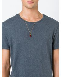 True Rocks | Metallic 'pill' Necklace | Lyst