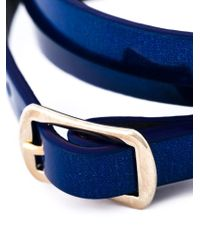 McQ - Blue Swallow Triple Wrap Bracelet - Lyst