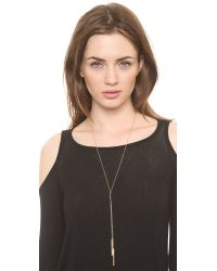 Gorjana | Metallic Mave Lariat Necklace - Gold | Lyst