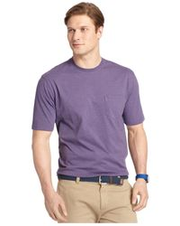 Izod | Purple Big And Tall Crew-neck Pocket T-shirt for Men | Lyst