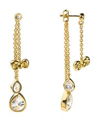 Noir Jewelry - Metallic Hello Kitty Bow Drop Earring - Lyst