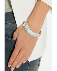 Ann Dexter-Jones | Blue Sterling Silver Larimar and Aquamarine Id Bracelet | Lyst