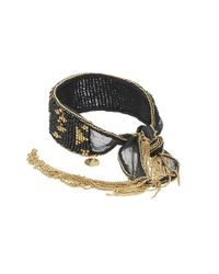 Chan Luu - Black 6' Adjustable Light Blue Mix Double Strand Single Bracelet - Lyst