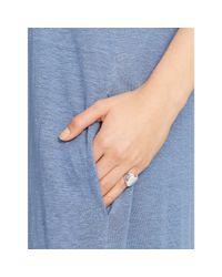 Polo Ralph Lauren | Blue Linen V-neck Maxidress | Lyst