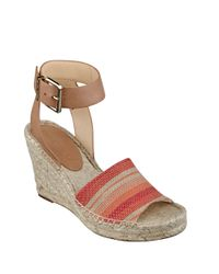 Ivanka Trump | Pink Dalinda Wedge Sandals | Lyst