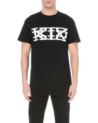 KTZ - Black Logo Cotton T-shirt for Men - Lyst