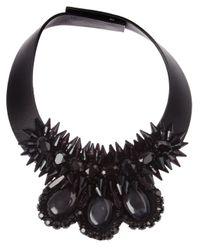 Marni | Black Crystal Collar Necklace | Lyst