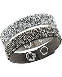 Swarovski | Black Crystal Rock Bracelet Set | Lyst