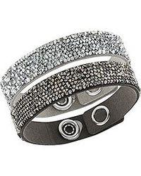Swarovski - Black Crystal Rock Bracelet Set - Lyst