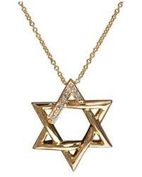 Effy Collection - Metallic Effy Diamond Accent Star Of David Pendant In 14k Gold - Lyst