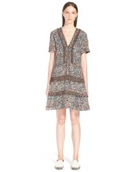 Proenza Schouler - Multicolor Print Drop Waist Dress - Lyst
