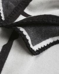 Ted Baker | Black Mondi Check Knit Cape | Lyst