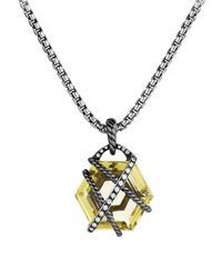 David Yurman | Yellow Cable Wrap Pendant With Lemon Citrine And Diamonds | Lyst