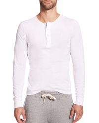 Façonnable - White Cotton Henley for Men - Lyst