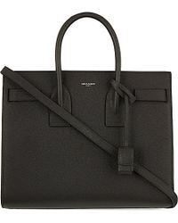 Saint Laurent | Black Sac De Jour Small Leather Shoulder Bag, Women's, Anthracite | Lyst
