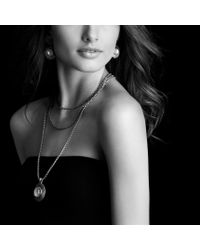 David Yurman   Metallic Cable Coil Pendant with Moon Quartz and Gold   Lyst