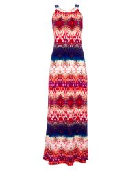 Wallis - Multicolor Petite Tribal Print Maxi Dress - Lyst