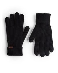 Burberry - Black Cashmere/wool Rib-knit Gloves - Lyst